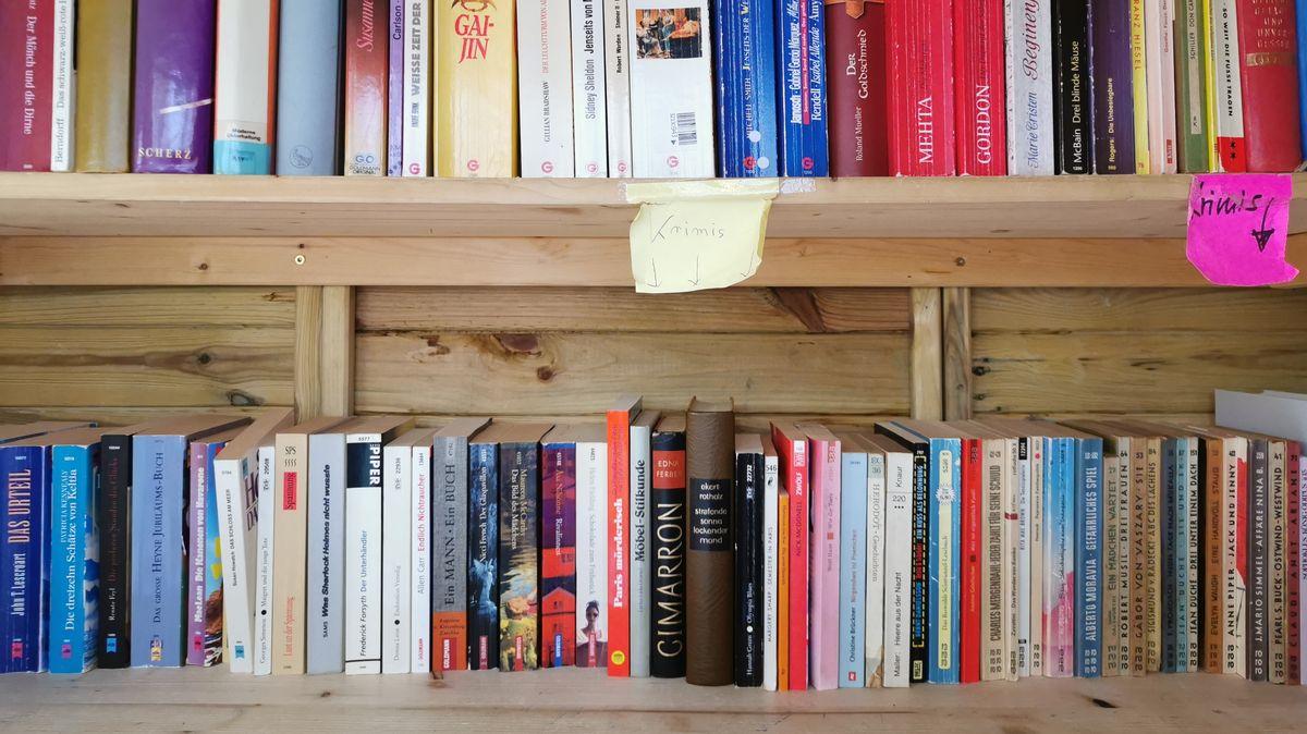 Ordentlich sortierte Bücherregale.
