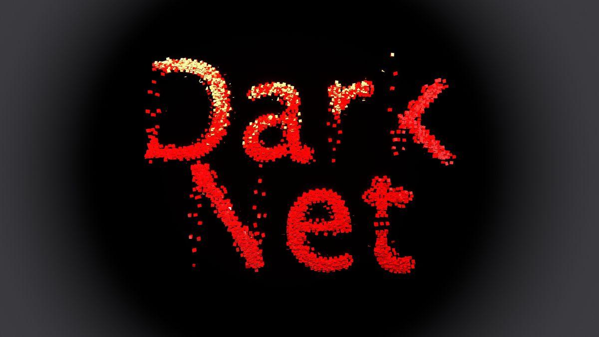 Schriftzug Darknet