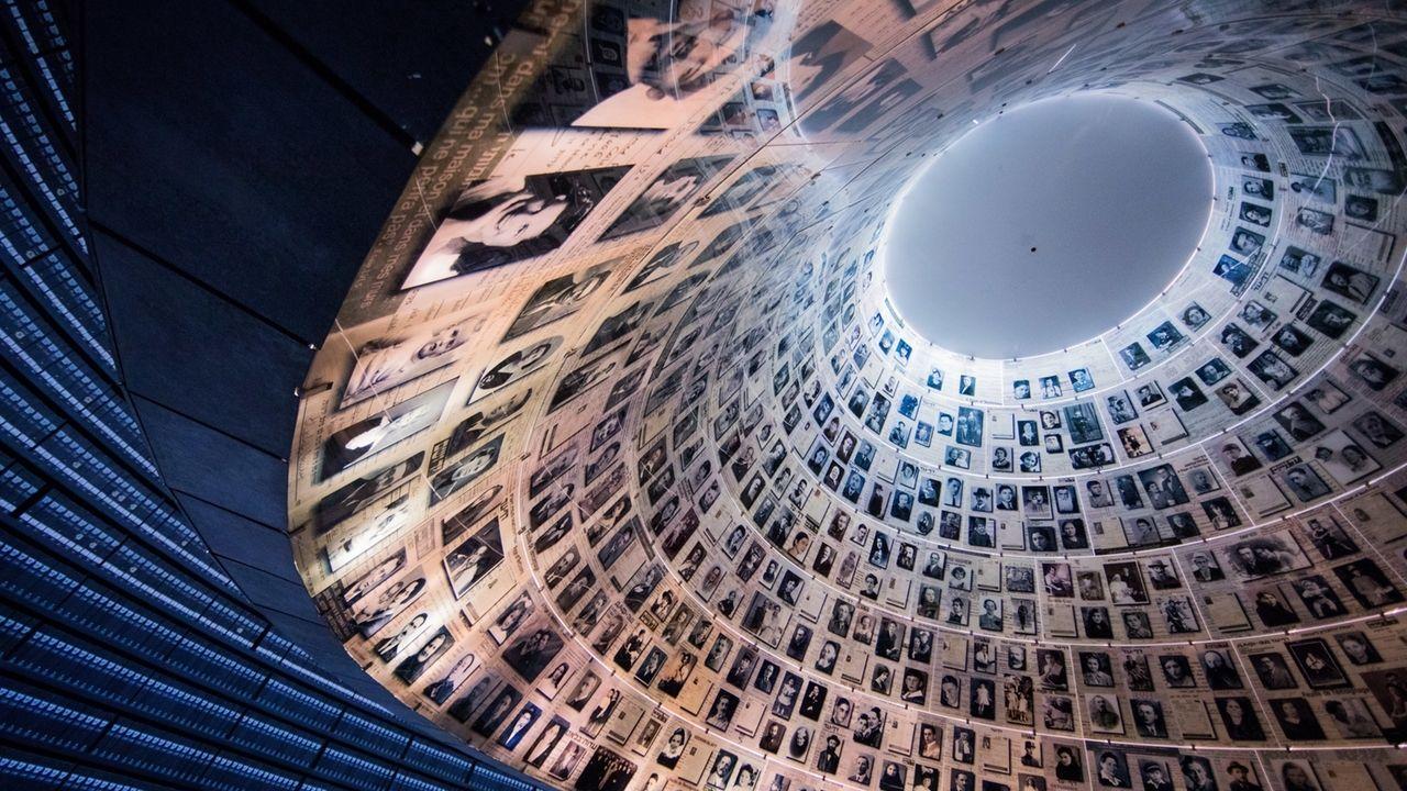 Die Halle der Namen in der Holocaust-Gedenkstätte Yad Vashem.