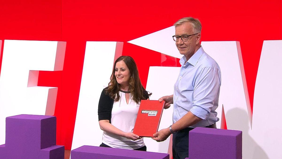 Janine Wissler und Dietmar Bartsch sind das Spitzenduo der Linken für den Bundestagswahlkampf.