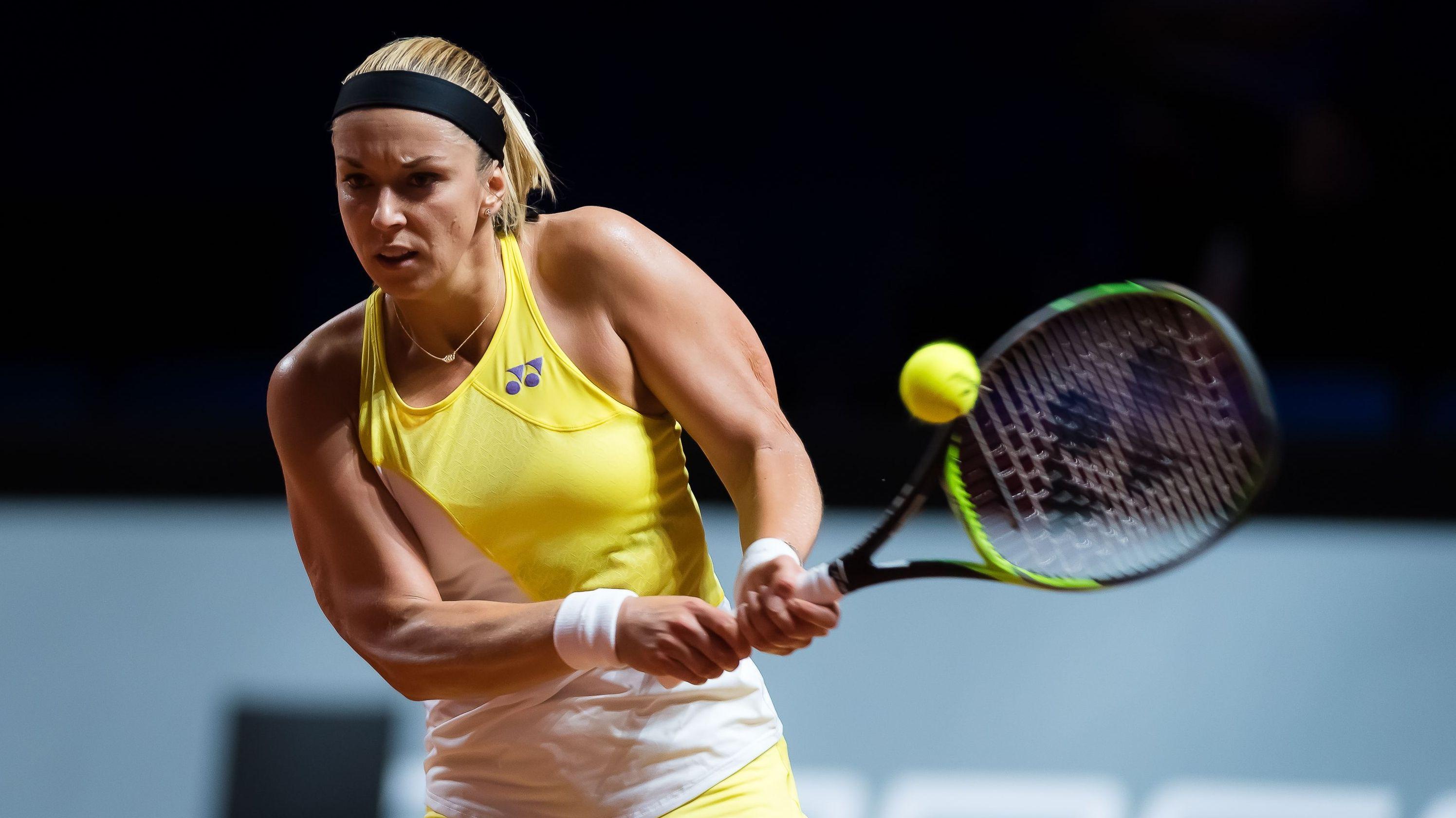 Sabine Lisicki beim Tennis-Turnier in Stuttgart