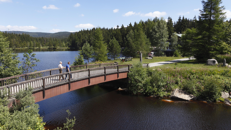 Brücke über den Fichtelsee bei Fichtelberg