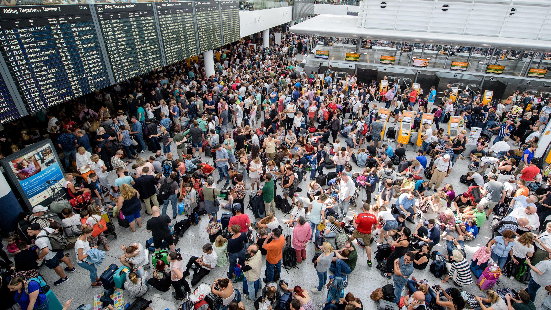 Rund 25.000 Passagiere waren in München am 27.08.19 von Flugausfällen betroffen.