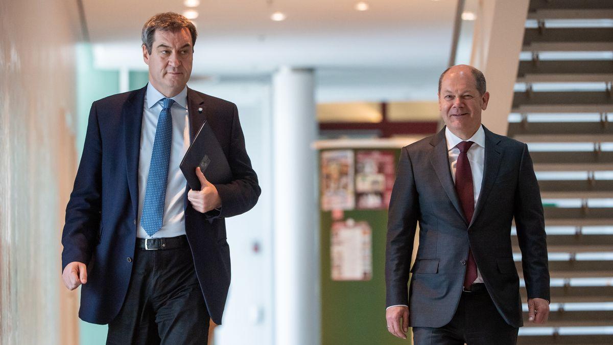 Auch CSU-Chef Markus Söder lehnt die Altschuldenpläne von Olaf Scholz (SPD) ab.