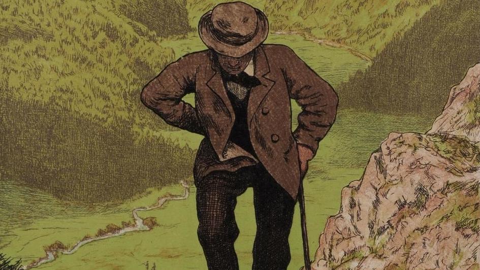 Hans Thoma: Der Wanderer 1906