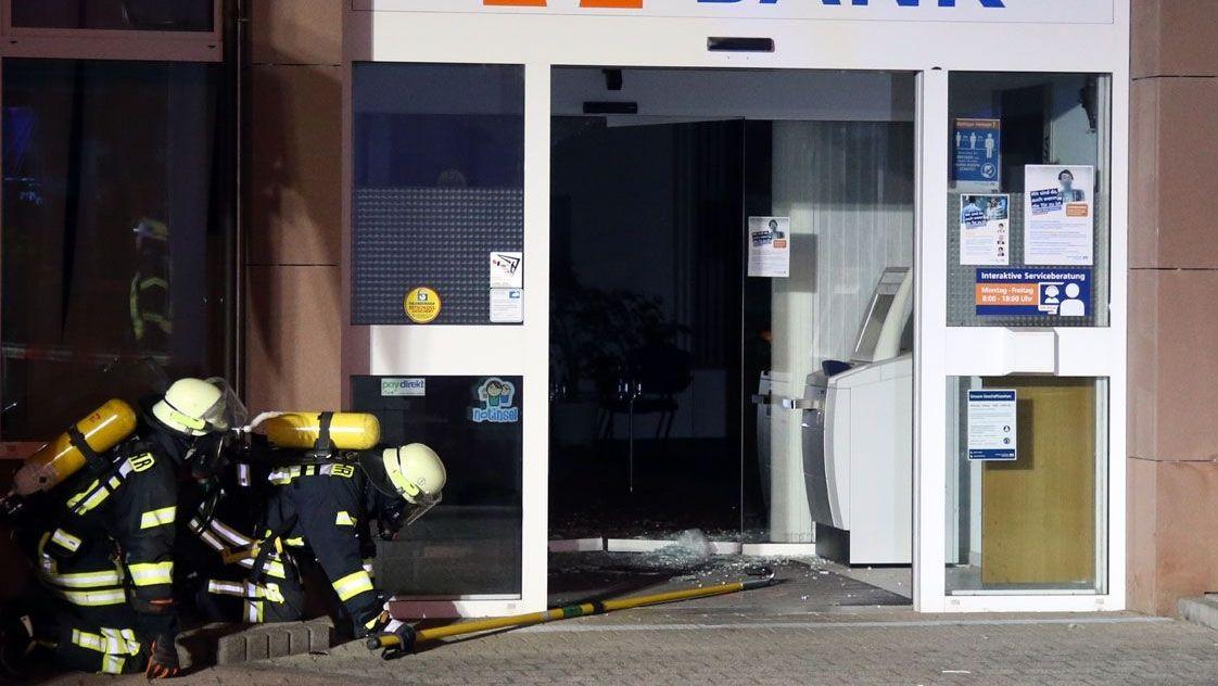 Unbekannte sprengen Geldautomaten in Sulzbach am Main