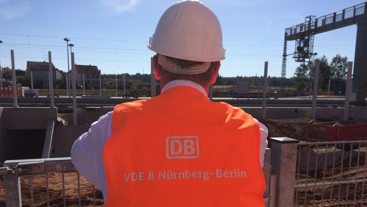 Bahnbaustelle ICE-Strecke Bamberg-Lichtenfels (Symbolbild).