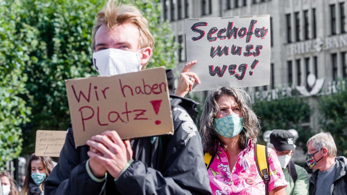 Demonstration gegen die deutsche Flüchtlingspolitik am 12.9.20 in Hamburg