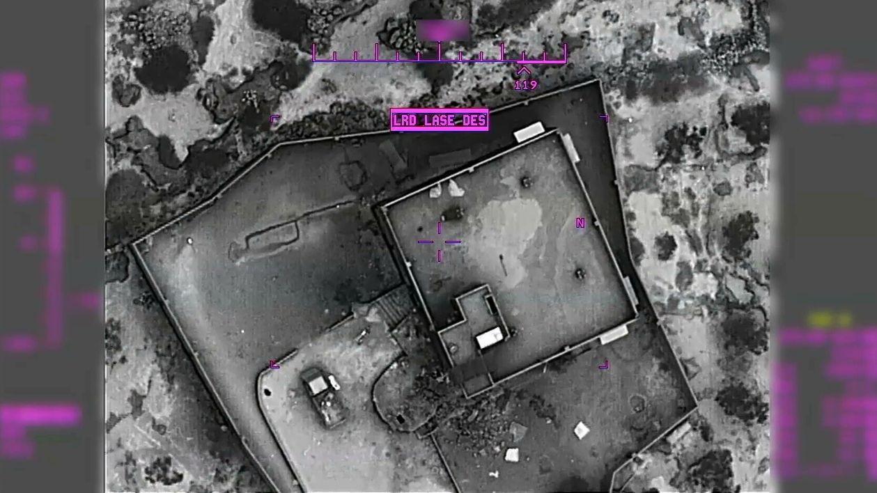 Aufnahme des US-Verteidigungsministeriums von der Unterkunft des IS-Anführers al-Bagdadi