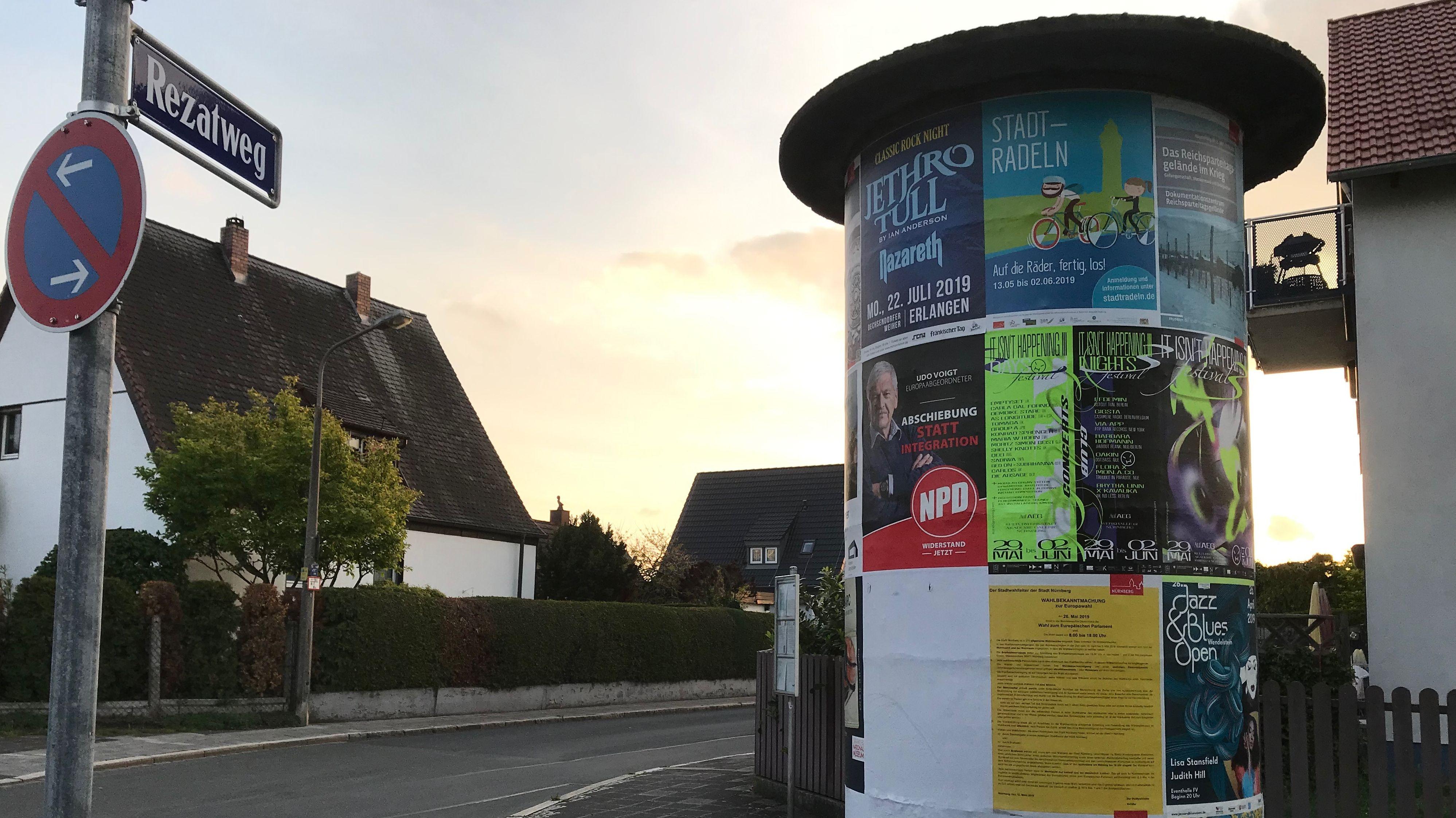 Umstrittene NPD-Plakatierung in Nürnberg