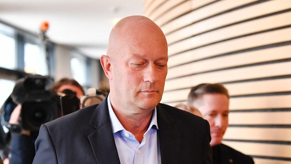 Thüringens Ministerpräsident Thomas Kemmerich (FDP) am Freitag im Thüringer Landtag.
