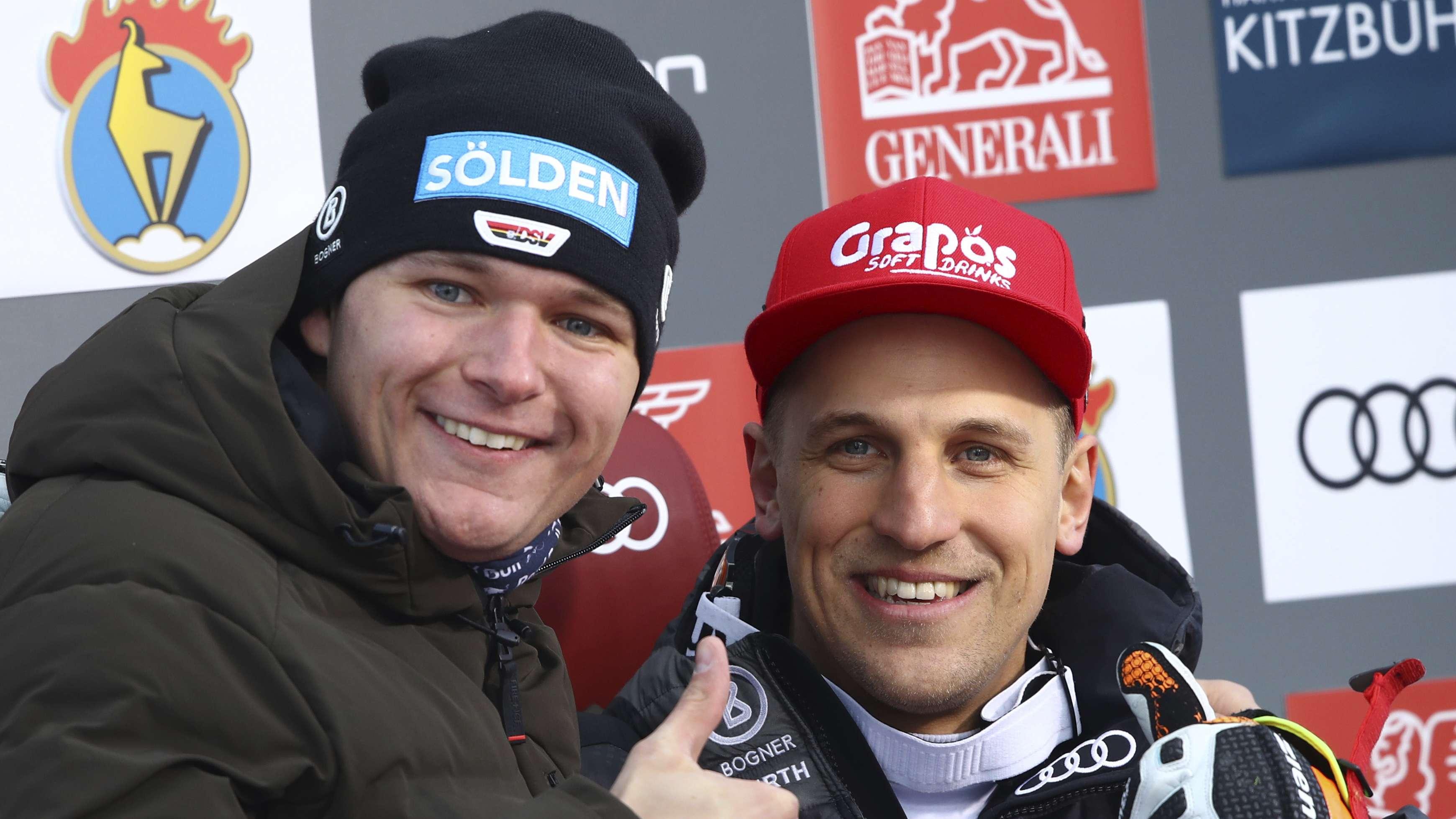 Thomas Dreßen (l.) und Josef Ferstl