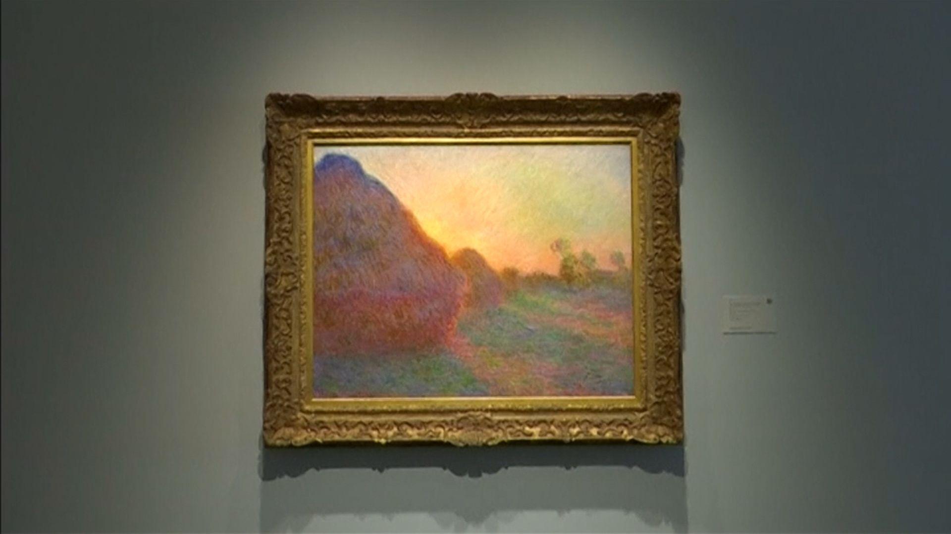 "Das Gemälde""Meules""von Impressionist Claude Monet"