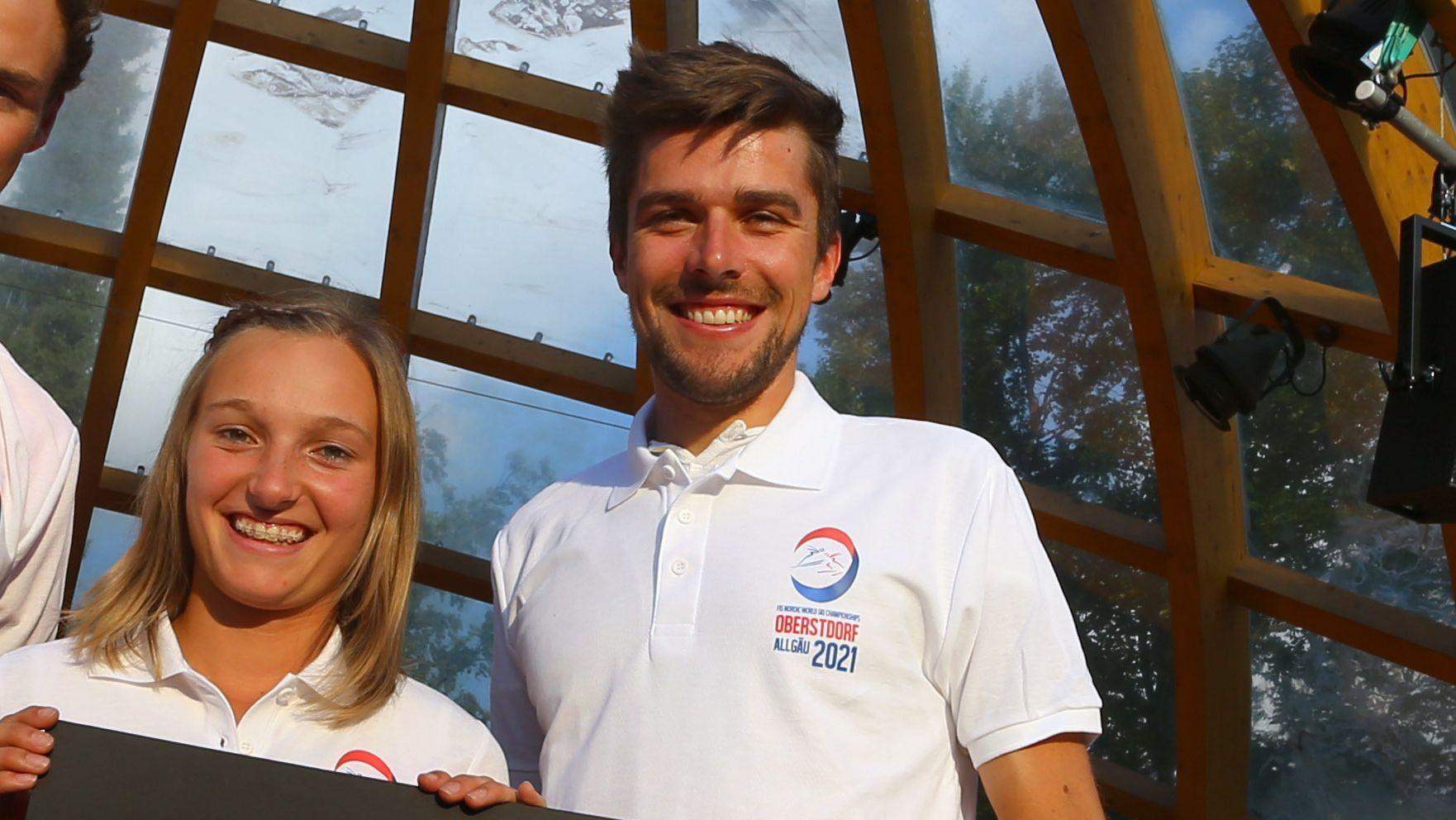 Katharina Althaus (li.) und Johannes Rydzek (re.)