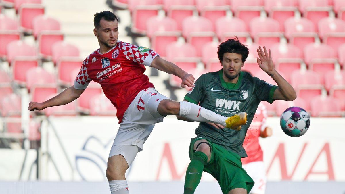 Spielszene 1. FSV Mainz 05 gegen FC Augsburg