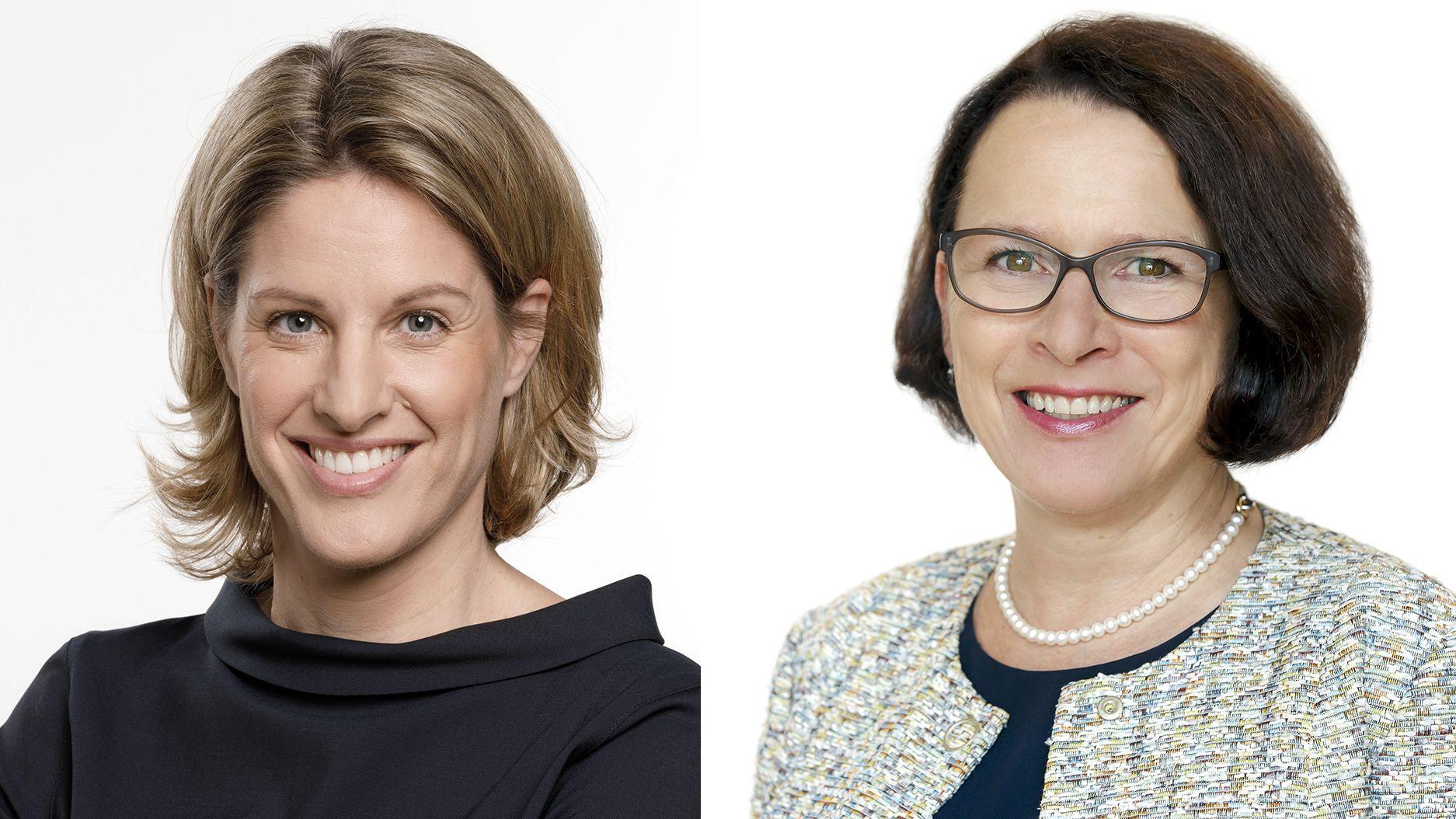 Astrid Freudenstein (CSU, l) und Gertrud Maltz-Schwarzfischer (SPD) gehen in die Stichwahl.