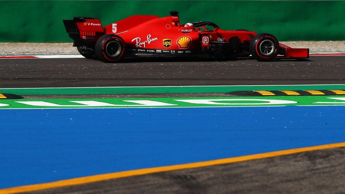 Sebastian Vettel auf dem Kurs in Monza