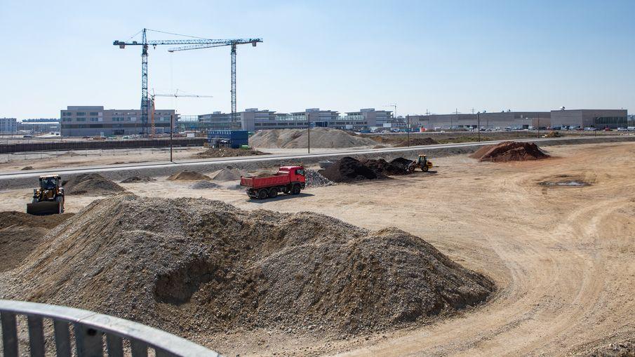 Baustelle eines Neubaugebiets