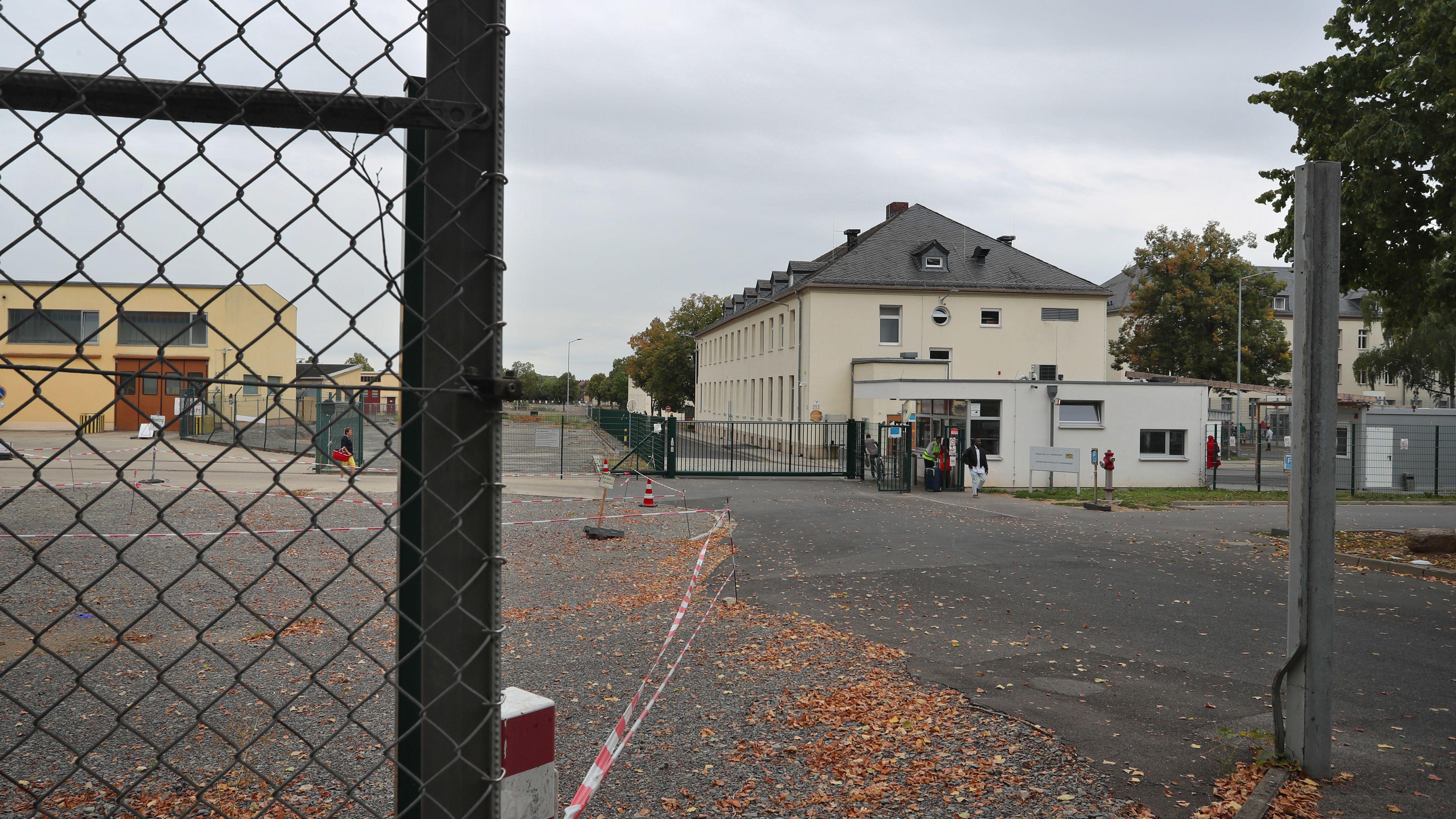 Schweinfurt: Die Pforte des Ankerzentrums.