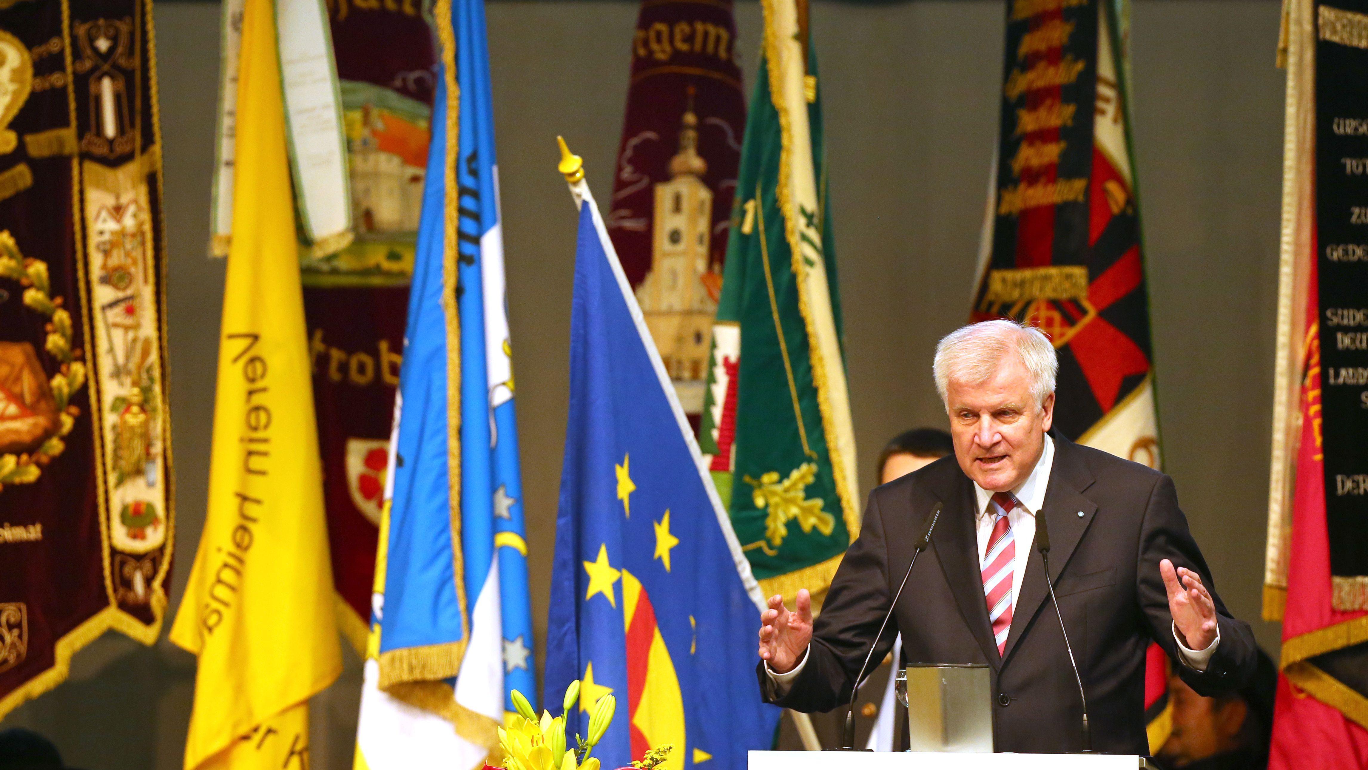 Horst Seehofer (CSU) als Ministerpräsident auf dem 66. Sudetendeutschen Tag.