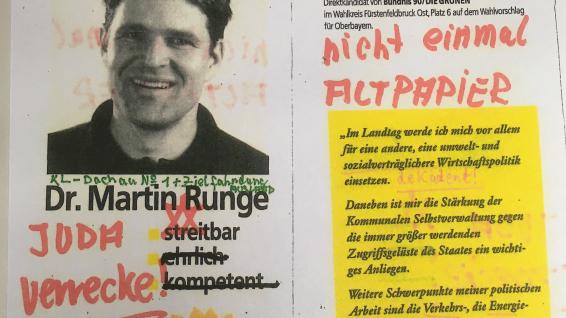 Drohungen gegen Martin Runge