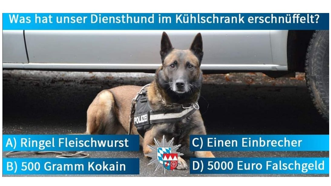 Facebook-Post des Polizeipräsidiums Unterfranken