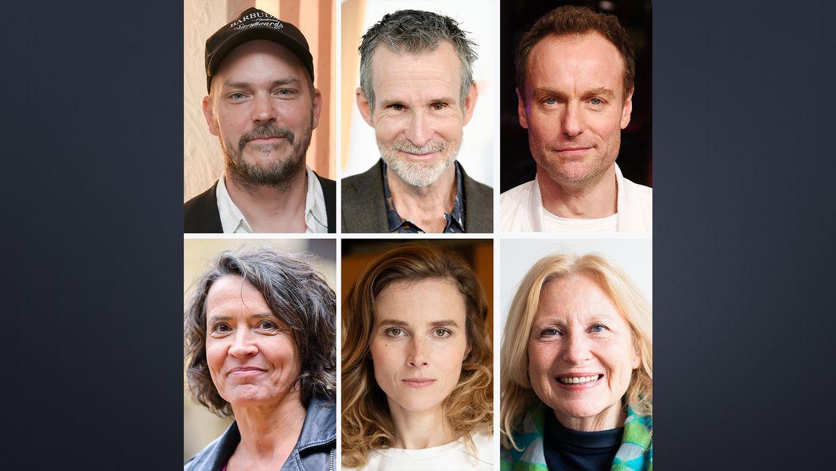 Porträtfotos von 6 deutschsprachigen Schauspielern und Schauspielerinnen