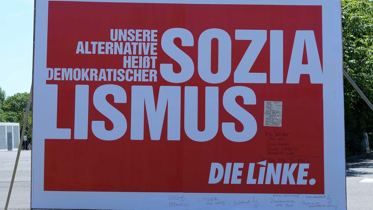 Wahlplakat der Linken.