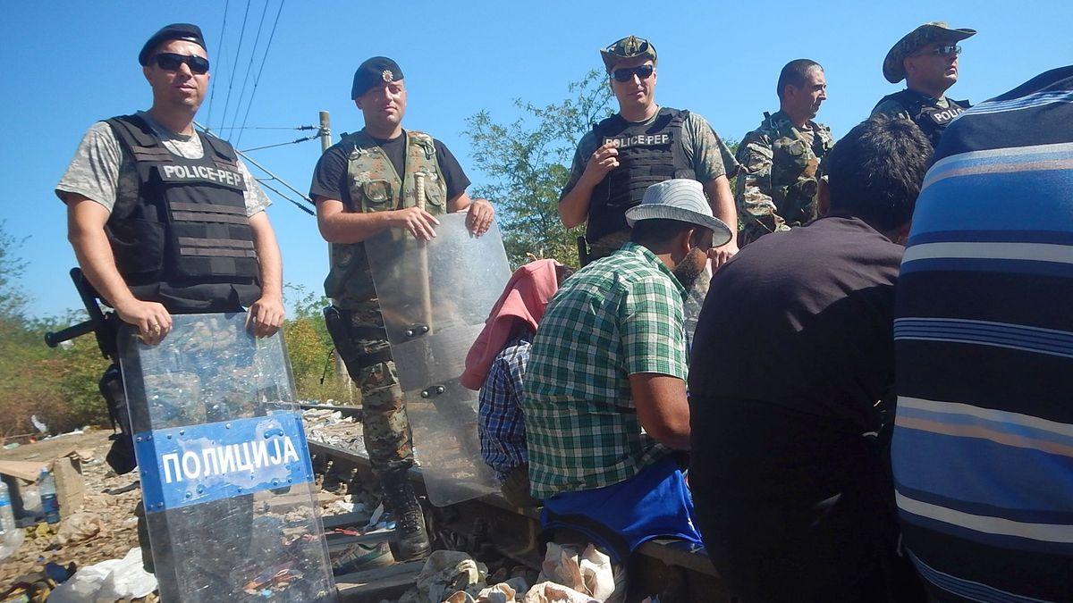 23. August 2015, Grenze Nordmazedonien/Griechenland.