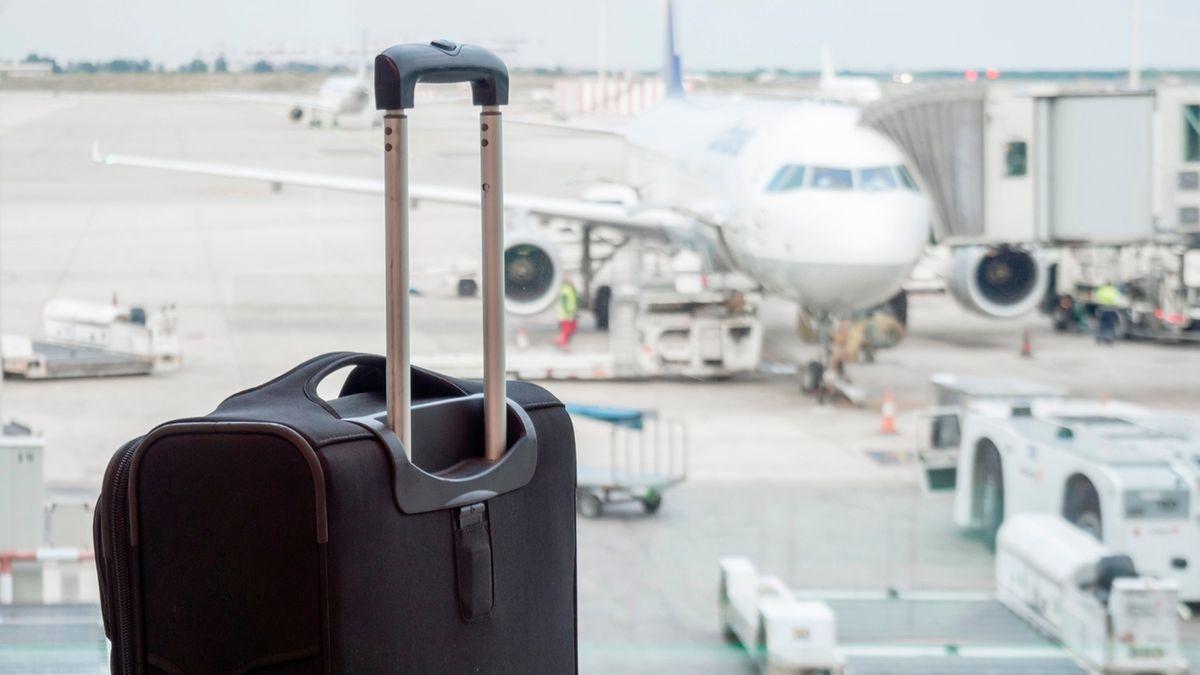 Koffer am Flughafen