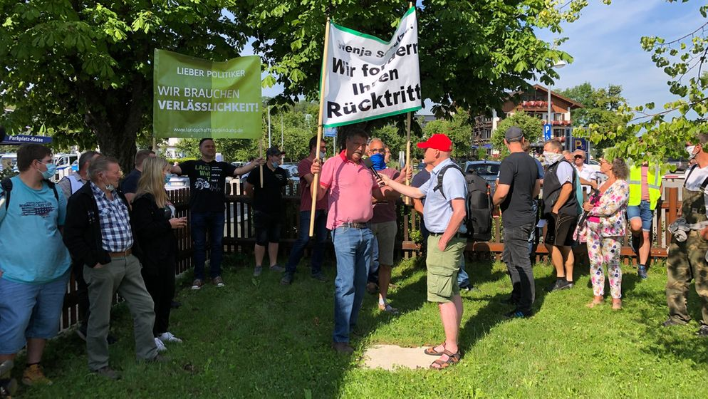 Proteste in Herrenchiemsee | Bild:BR/Dagmar Bohrer-Glas