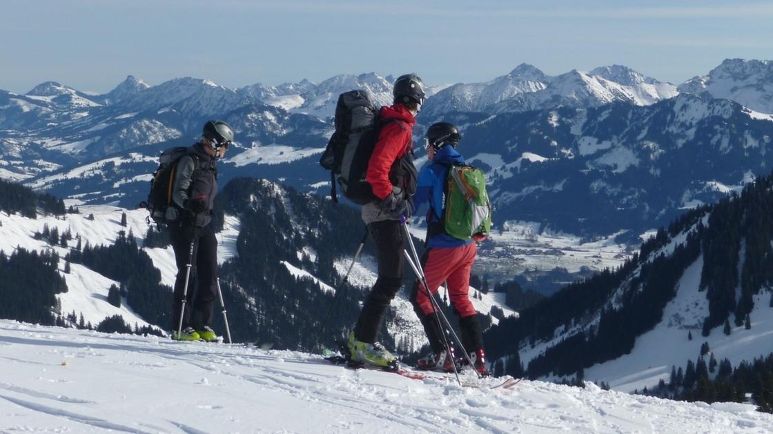 Viel Betrieb im Skigebiet Grasgehren