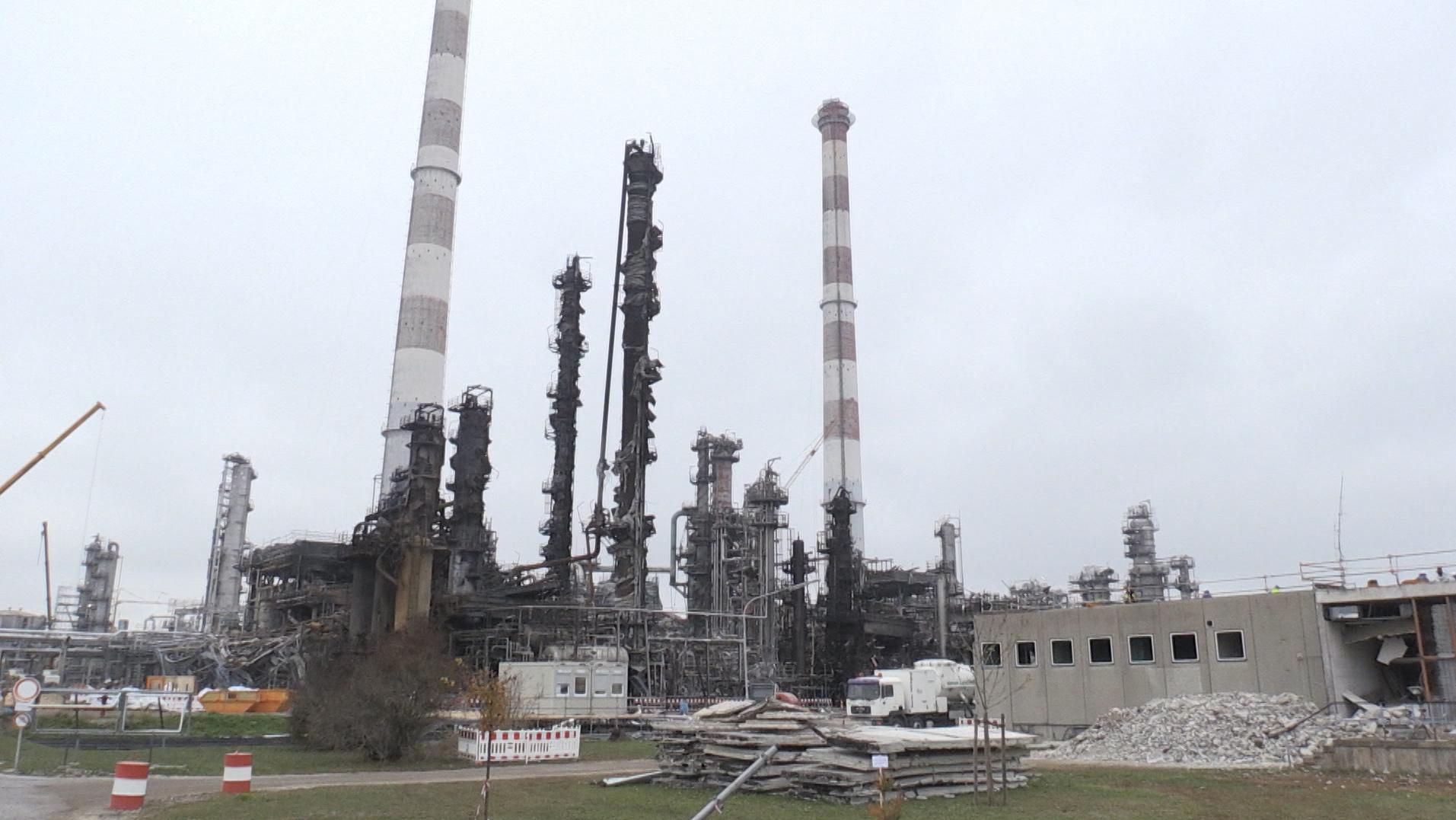 Die Ölraffinerie in Vohburg.