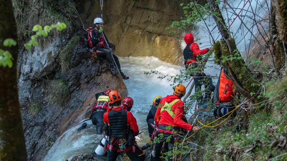 Rettungseinsatz am Königsbachfall | Bild:BRK Berchtesgaden