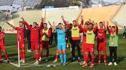 Türkgücü-Spieler nach dem Arbeitssieg gegen Wehen-Wiesbaden   Bild:picture-alliance/dpa
