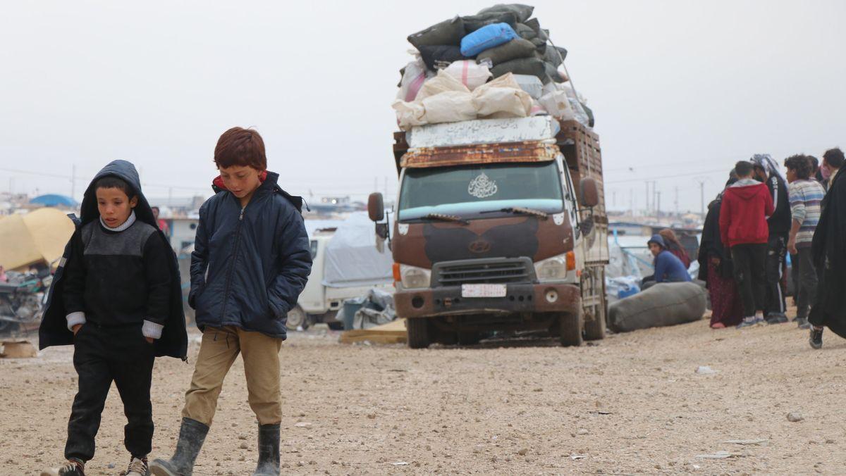das Flüchtlingslager Al-Hol im Nordostens Syrien