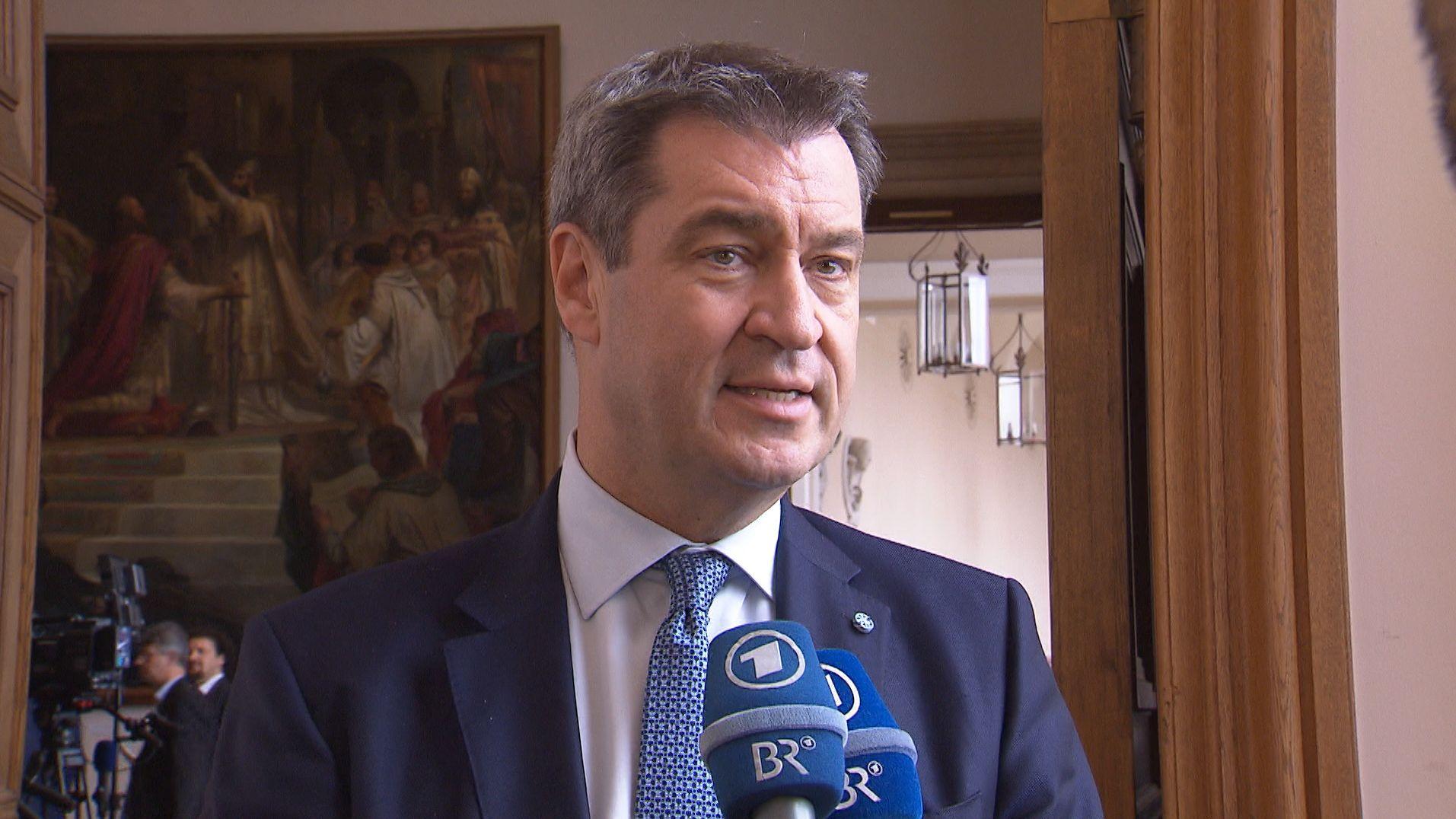 Markus Söder im Interview mit dem Bayerischen Rundfunk