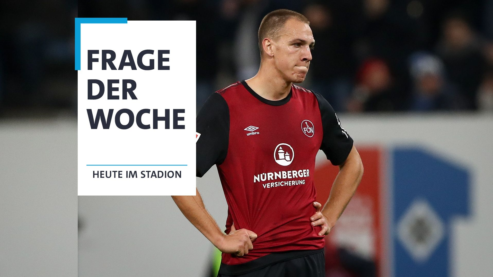 Nürnbergs Michael Frey steht nach der 1:4-Niederlage beim HSV enttäuscht auf dem Platz.