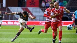 Spielszene FC St. Pauli - Würzburger Kickers   Bild:picture-alliance/dpa