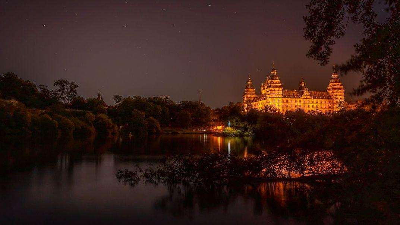 Aschaffenburg bei Nacht (Symbolfoto)
