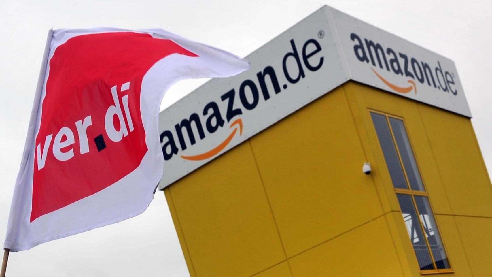 Das Logistikzentrum des Internethändlers wird von der Gewerkschaft Verdi bestreikt.