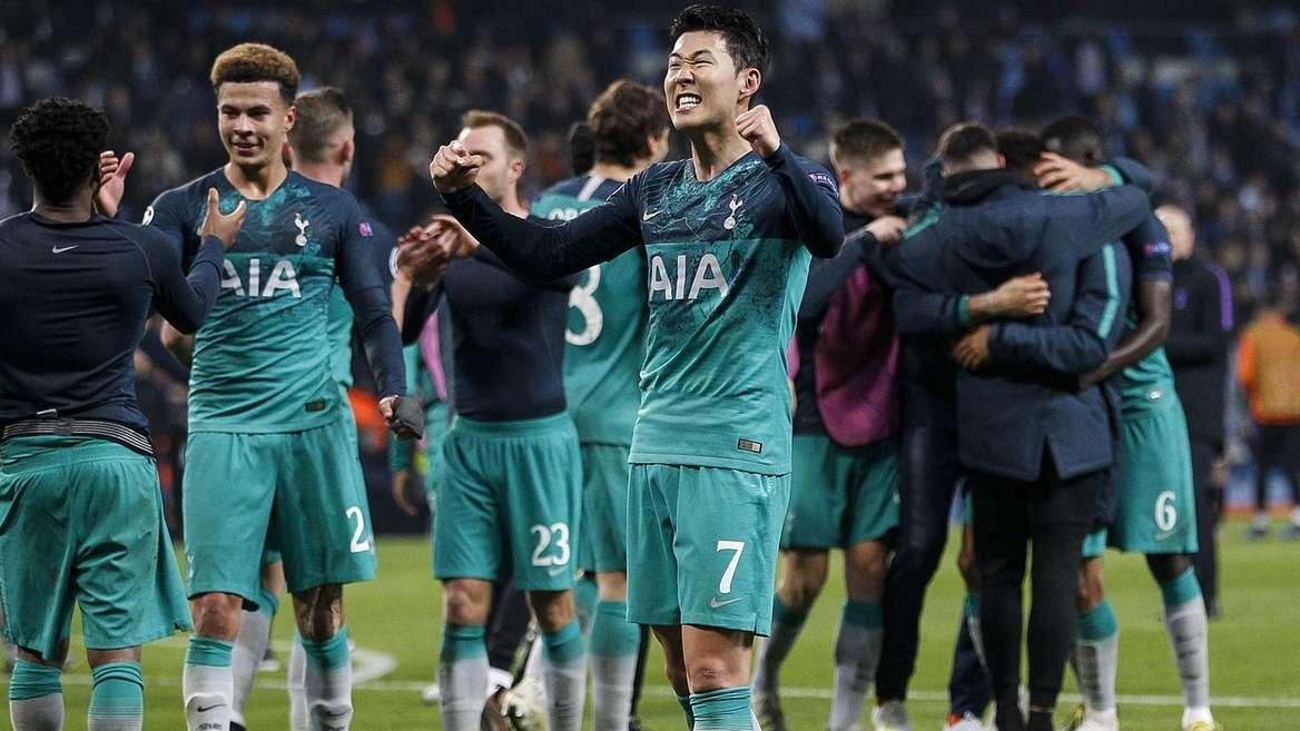 Jubel bei Spielern von Tottenham Hotspur