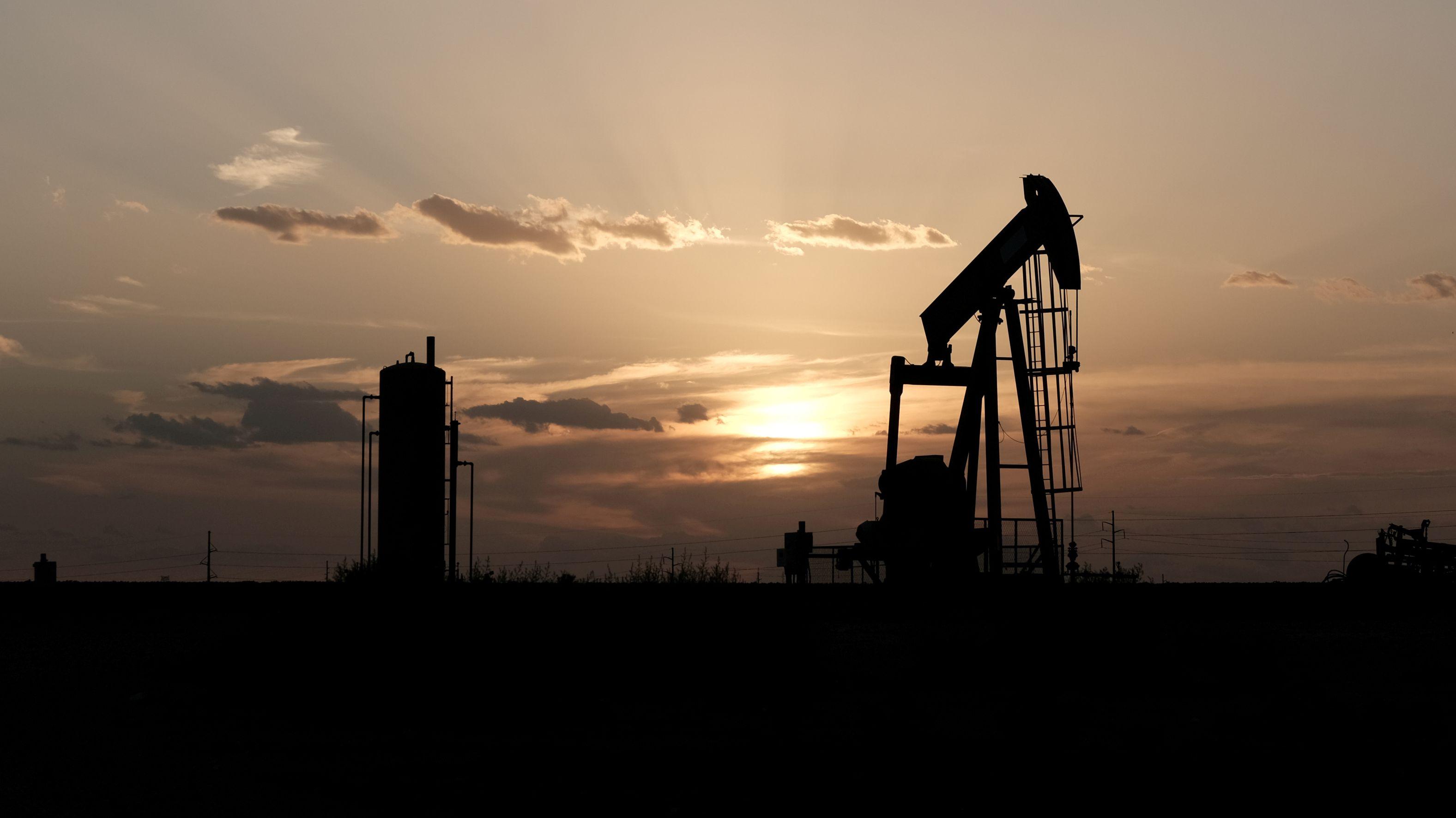 Ölförderpumpe in Texas, USA