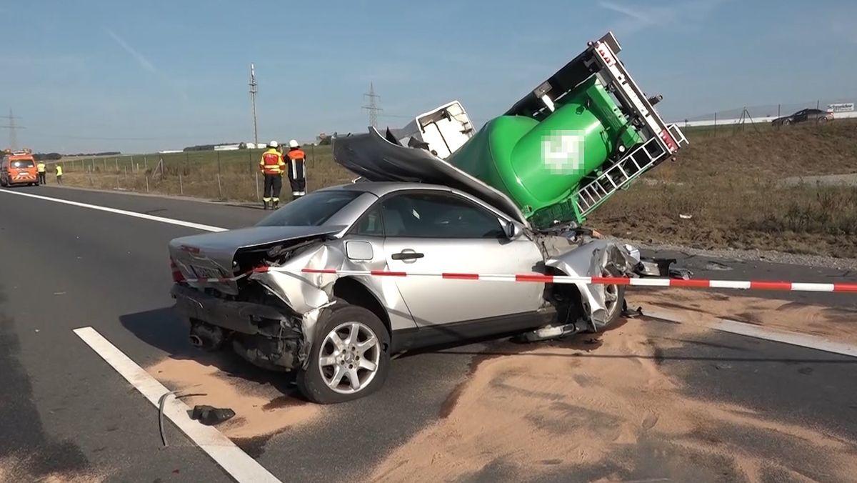 Die Unfallstelle auf der A3