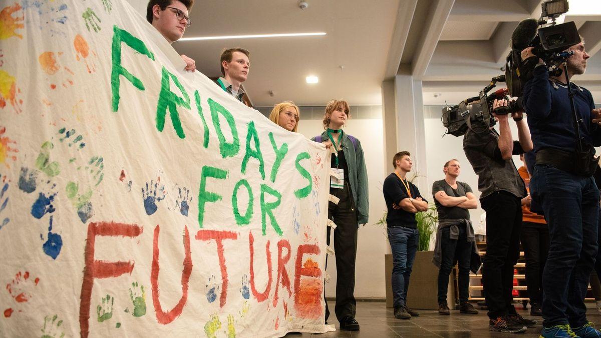 Fridays for Future-Aktivisten in Erlangen