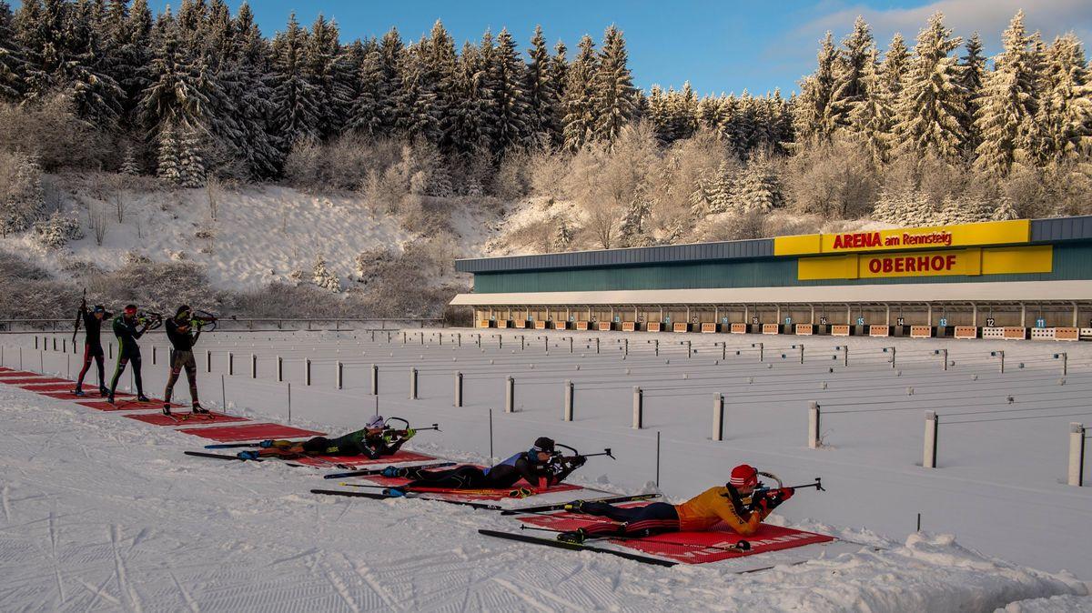 Training des deutschen Teams in Oberhof