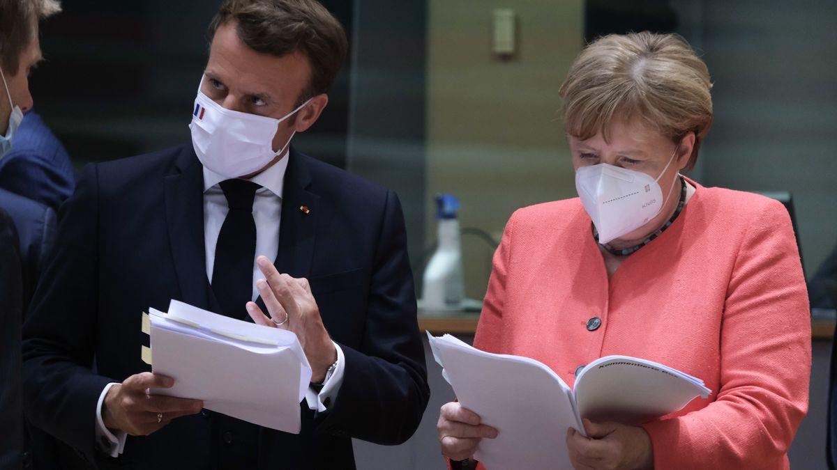 Emmanuel Macron und Angela Merkel, Brüssel, 20.7.2020
