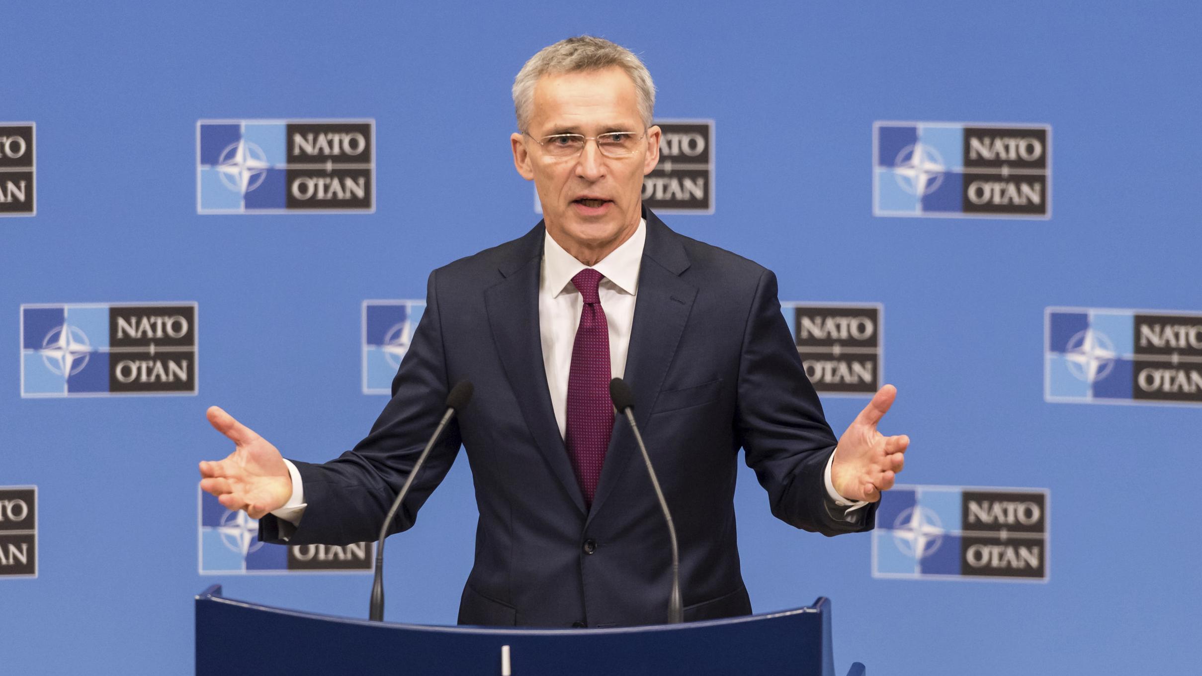 NATO-Generalsekretär Jens Stoltenberg stellt Jahresbericht 2018 vor