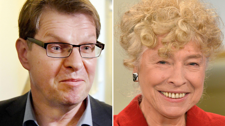 Porträts der SPD-Politiker Ralf Stegner und Gesine Schwan