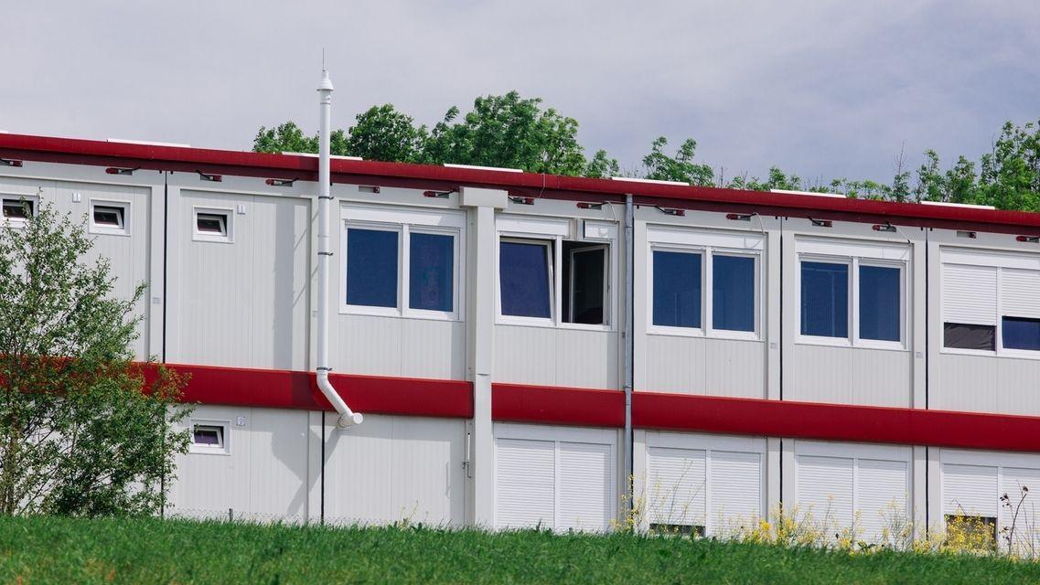 Containerunterkunft bei Wasserburg (Symbolbild)